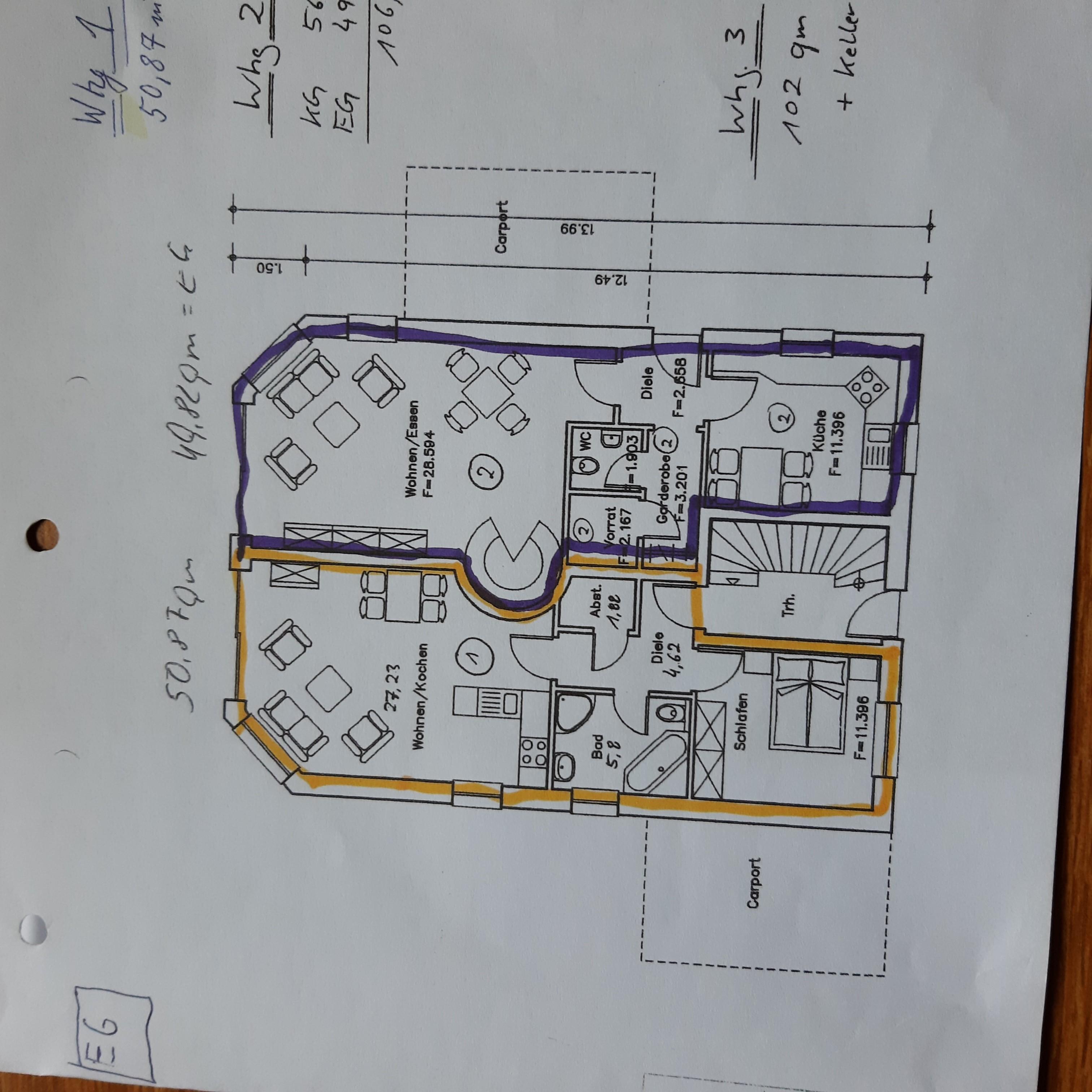 Grundrisse EG-Wohnungen